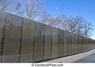 vietnam kriga minnesmärke, in, washington washington dc