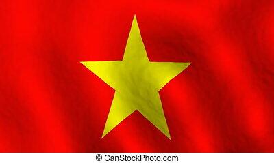 Vietnam looping flag animated background