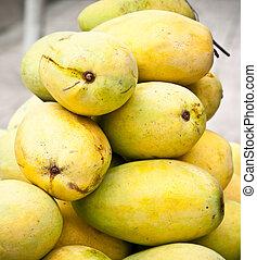 vietnam., mango, barracuda, mercado, amarillo