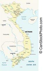 vietnam map 2 - The vietnam vector map