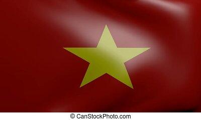 vietnam strong wind flag