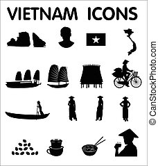 Vietnam vector icons - Vietnam sixteen newest vector icons