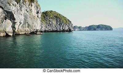 vietnam, vue panoramique, halong aboient