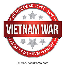 vietnam war commemoration seal illustration design over a ...