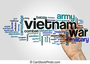 Vietnam war word cloud