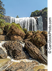 Vietnam waterfall on mountain landscapes