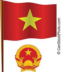 vietnam wavy flag