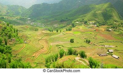 Vietnamese Akha tribe village on mountain, Sapa, Vietnam