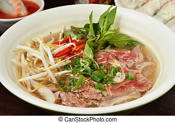 Vietnamese beef soup pho - Traditional Vietnamese beef soup...