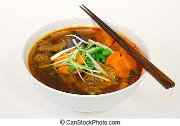 A bowl of VIetnamese beef stew (bo kho)