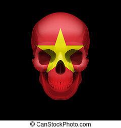 Vietnamese flag skull