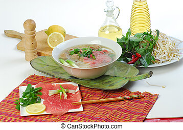 Vietnamese food and decorations