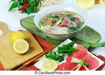 vietnamese food - Vietnamese food and decorations