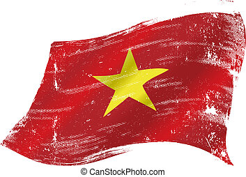 Vietnamese grunge flag - A grunge Vietnamese flag for you in...