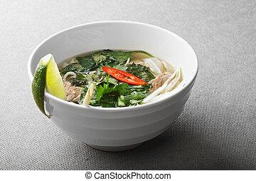 Vietnamese noodle pho soup