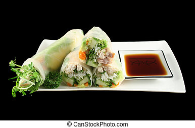 Vietnamese Rice Paper Rolls 1 - Delicious and healthy...