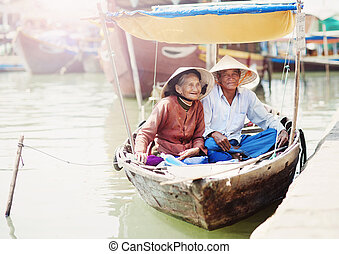 Vietnamese senior couple