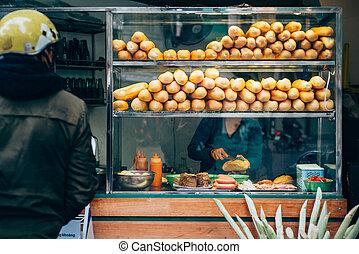 Vietnamese street food - Typical street food in Hanoi,...