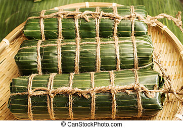 Vietnamese traditional rice cake to celerate the Lunar new ...