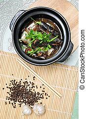 vietnamien, fish, ou, kho, braisé, ca