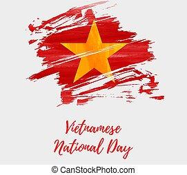 vietnamita, nacional, dia, feriado, fundo