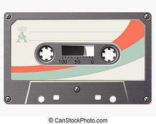 vieux, école, cassette, retro