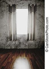 vieux, abandonnés, intérieur