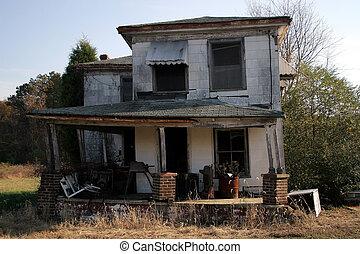 vieux, abandonnés, maison