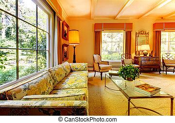 maison am ricain vivant vivant famille moyenne america maison taille. Black Bedroom Furniture Sets. Home Design Ideas
