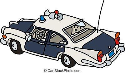 vieux, américain, surveiller voiture