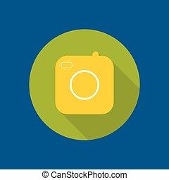 vieux, appareil-photo., icône