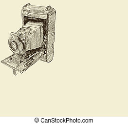 vieux, appareil photo