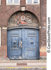 vieux, arcade, porte