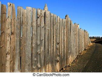 vieux, barrière