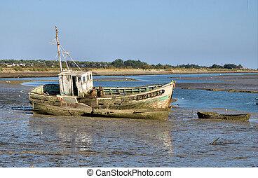 vieux, bateau
