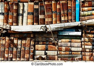 vieux, bibliothèque