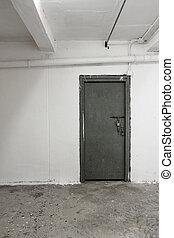vieux, blanc, intérieur, à, porte