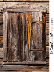 vieux, bois, fenêtre