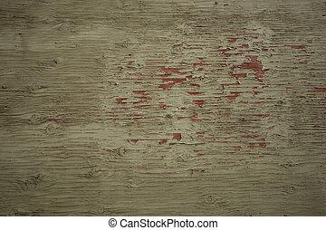 vieux, bois, peint, arrière-plan.