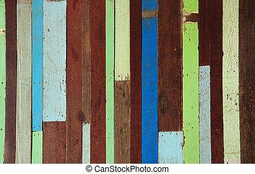 vieux, bois, peint