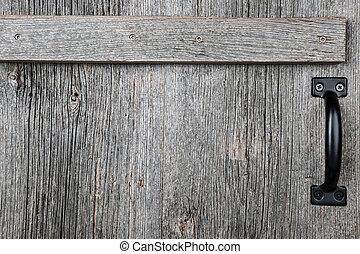 vieux, bois, porte, grange
