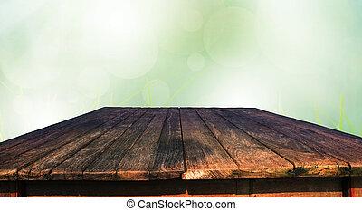 vieux, bois, table