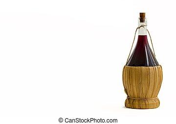 vieux, bouteille, vin