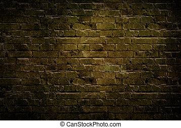 vieux, brique, wall., grunge, arrière-plan.