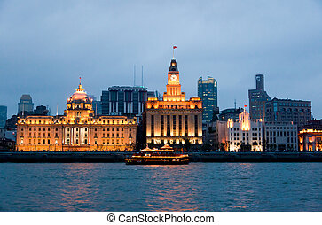 vieux, bund, district, shanghai, -, partie