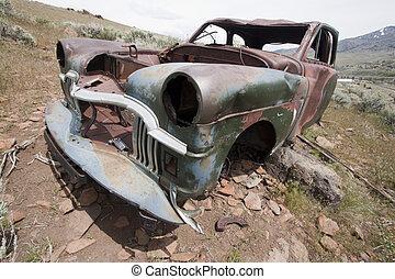 vieux camion, abandonnés