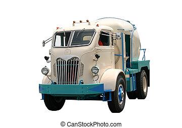 vieux camion, ciment