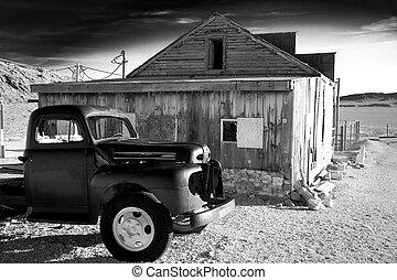 vieux camion, magasin, général