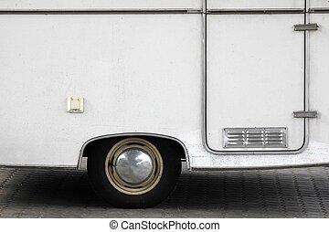 vieux, camping, caravane