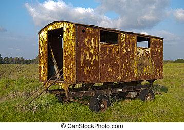 vieux, caravane